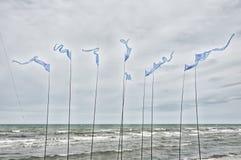 Bandiere d'ondeggiamento di forma triangolare Immagine Stock Libera da Diritti