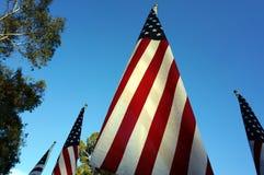 Bandiere degli Stati Uniti Festa di Memorial Day Fotografie Stock