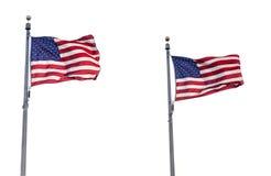 Bandiere degli Stati Uniti isolate Immagine Stock