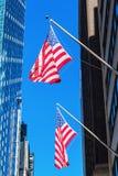 Bandiere degli Stati Uniti in Manhattan, New York Fotografie Stock Libere da Diritti