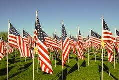 Bandiere degli Stati Uniti in onore di 911 Immagini Stock Libere da Diritti