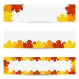 Bandiere dei fogli di autunno Fotografie Stock