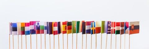 Bandiere dei membri di Unione Europea Immagine Stock Libera da Diritti