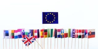 Bandiere dei membri di Unione Europea Fotografie Stock