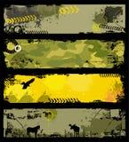 Bandiere dei militari di Grunge Fotografie Stock