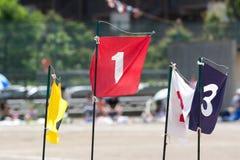 Bandiere dei numeri Immagini Stock
