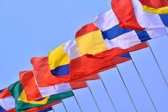 Bandiere dei paesi differenti Immagini Stock