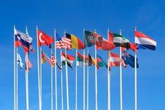 Bandiere dei paesi differenti del mondo Fotografia Stock
