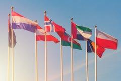 Bandiere dei paesi differenti del mondo Fotografie Stock