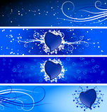 Bandiere del biglietto di S. Valentino Fotografia Stock Libera da Diritti