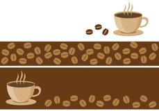 Bandiere del caffè Fotografia Stock