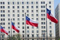 Bandiere del Cile, Cile Fotografia Stock Libera da Diritti