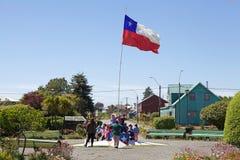 Bandiere del Cile, Cile Fotografia Stock