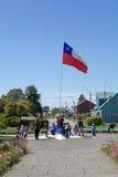 Bandiere del Cile, Cile Fotografie Stock