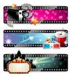 Bandiere del cinematografo Fotografia Stock