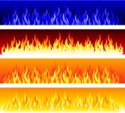 Bandiere del fuoco di vettore Fotografie Stock