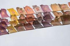 Bandiere del giocatore fotografie stock
