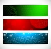 Bandiere del globo Immagini Stock