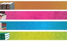 Bandiere del libro Fotografia Stock