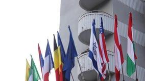 Bandiere del mondo video d archivio