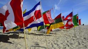 Bandiere del mondo stock footage