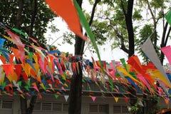 Bandiere del partito Fotografia Stock