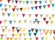 Bandiere del partito dell'acquerello illustrazione vettoriale