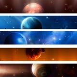 Bandiere del pianeta dello spazio Fotografia Stock
