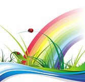 Bandiere del positivo di estate e della primavera Immagine Stock