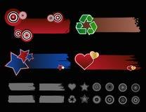 Bandiere del raso Fotografia Stock