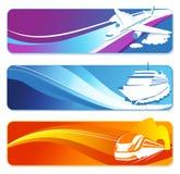 Bandiere del trasporto impostate Fotografia Stock