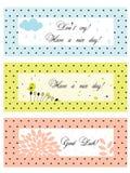 Bandiere dell'annata del puntino di Polka royalty illustrazione gratis