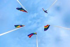 Bandiere dell'arcobaleno Immagini Stock