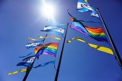 Bandiere dell'arcobaleno Fotografia Stock