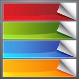 Bandiere dell'arricciatura della pagina in bianco royalty illustrazione gratis