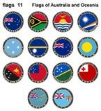 Bandiere dell'Australia e di Oceania Bandiere 11 Fotografia Stock