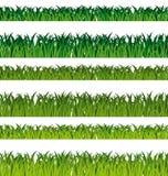 Bandiere dell'erba verde Immagine Stock