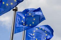 Bandiere dell'Eu Immagini Stock Libere da Diritti