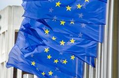 Bandiere dell'Eu Fotografia Stock