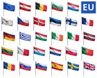 Bandiere dell'Eu Immagine Stock Libera da Diritti