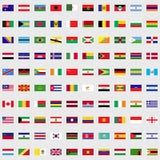 Bandiere dell'insieme del mondo Fotografia Stock
