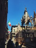 Bandiere dell'Italia fotografia stock