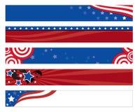 Bandiere della bandiera americana Fotografie Stock Libere da Diritti