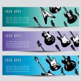 Bandiere della chitarra   Immagini Stock Libere da Diritti