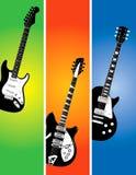 Bandiere della chitarra impostate Fotografie Stock Libere da Diritti