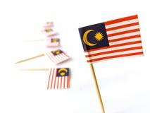 Bandiere della Malesia Fotografia Stock