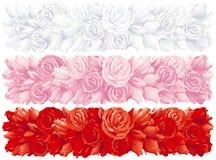Bandiere della Rosa Fotografie Stock
