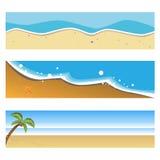 Bandiere della spiaggia di estate Fotografia Stock