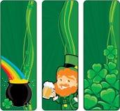 Bandiere della st Patricks Fotografie Stock