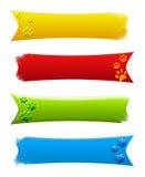 Bandiere della stampa della zampa Fotografie Stock